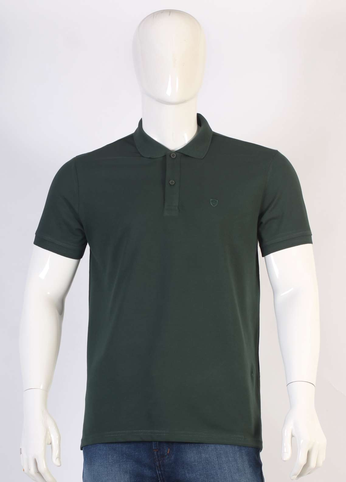 Sanaulla Exclusive Range Jersey Polo Men T-Shirts - Green TKM18S V-6