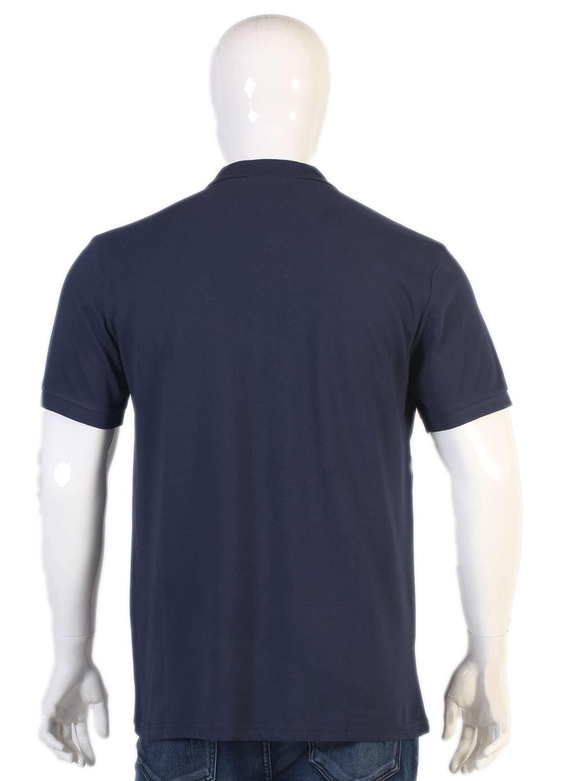 Sanaulla Exclusive Range Jersey Polo Men T-Shirts - Navy Blue TKM18S V-8
