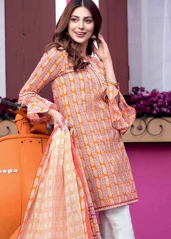 Gul Ahmed Printed Lawn Unstitched 2 Piece Suit GA18L TL-103A - Essential Collection