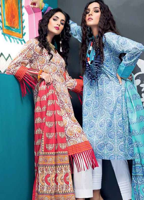 Gul Ahmed Printed Lawn Unstitched 2 Piece Suit GA18L TL-111B - Essential Collection