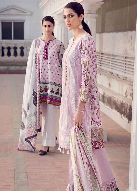 Gul Ahmed Embroidered Lawn Unstitched 2 Piece Suit GA18L TL-113 - Essential Collection
