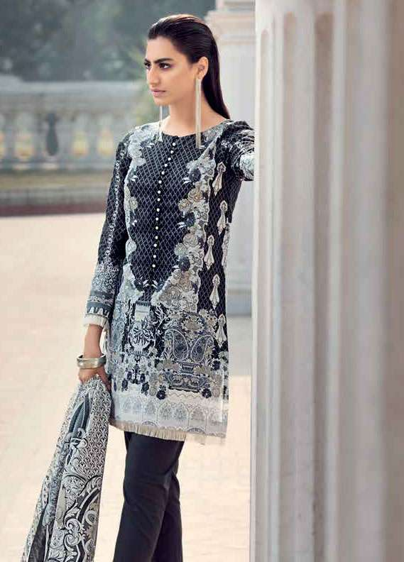 Gul Ahmed Printed Lawn Unstitched 2 Piece Suit GA18L TL-119A - Essential Collection
