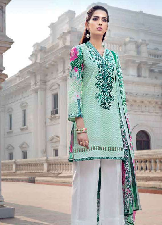 Gul Ahmed Embroidered Lawn Unstitched 2 Piece Suit GA18L TL-120A - Essential Collection