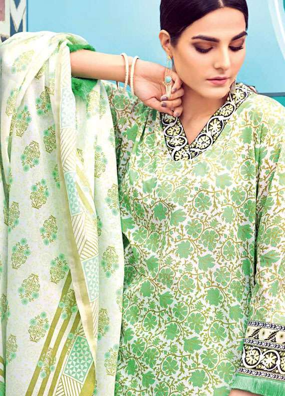 Gul Ahmed Printed Lawn Unstitched 2 Piece Suit GA18L TL-121B - Essential Collection