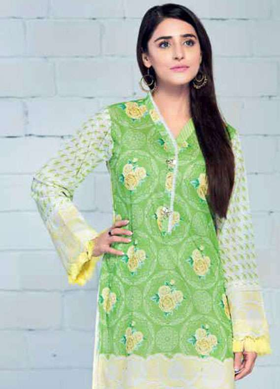 Gul Ahmed Printed Lawn Unstitched 2 Piece Suit GA18L TL-125A - Essential Collection