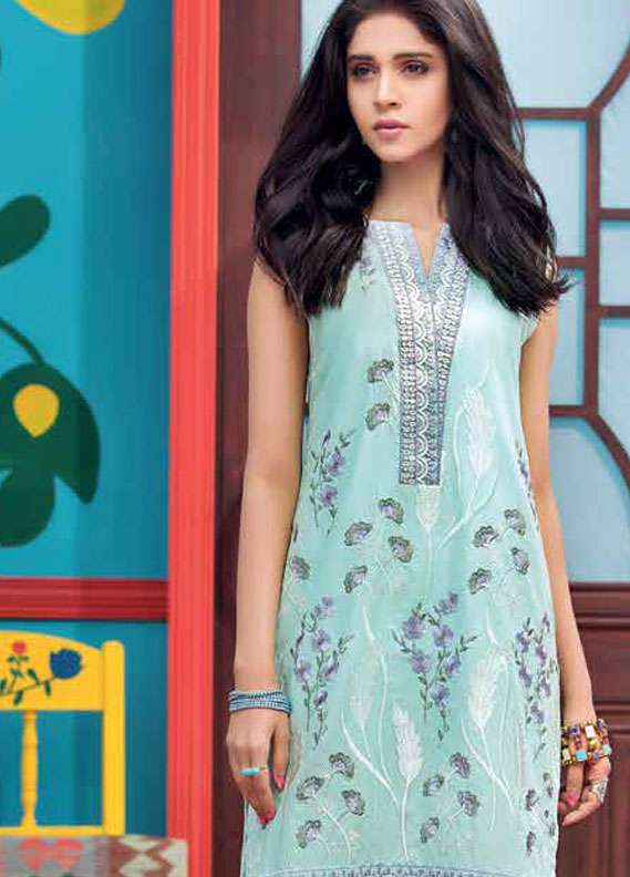Gul Ahmed Embroidered Lawn Unstitched 2 Piece Suit GA18L TL-127 - Essential Collection