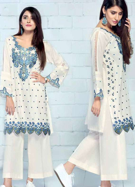 Gul Ahmed Embroidered Lawn Unstitched 2 Piece Suit GA18L TL-128 - Essential Collection
