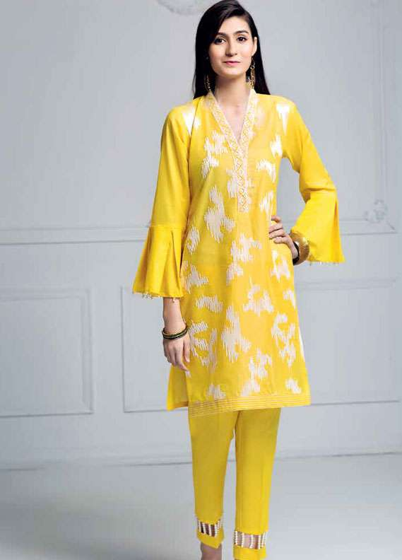 Gul Ahmed Embroidered Lawn Unstitched 2 Piece Suit GA18L TL-131 - Essential Collection