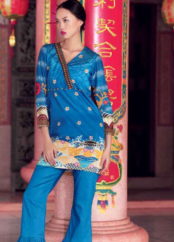 Gul Ahmed Printed Lawn Unstitched 2 Piece Suit GA18L TL-141A - Essential Collection