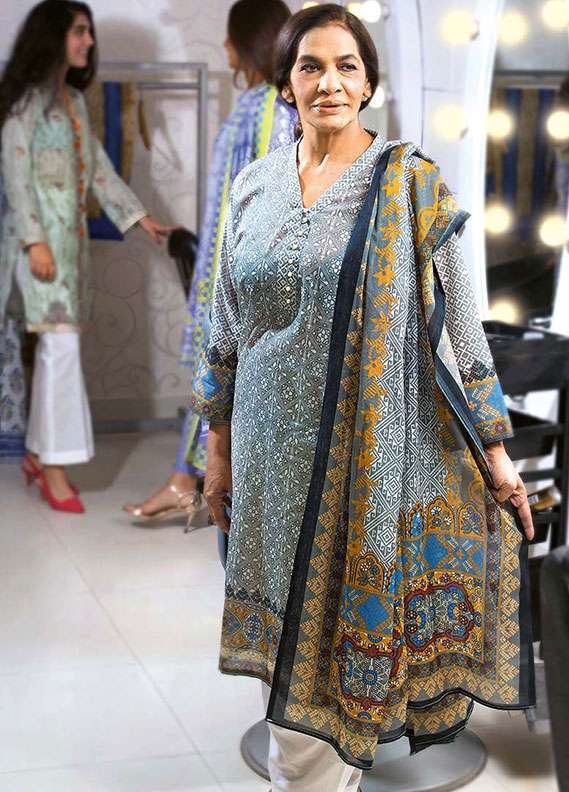 Gul Ahmed Printed Lawn Unstitched 2 Piece Suit GA18L TL-148B - Essential Collection