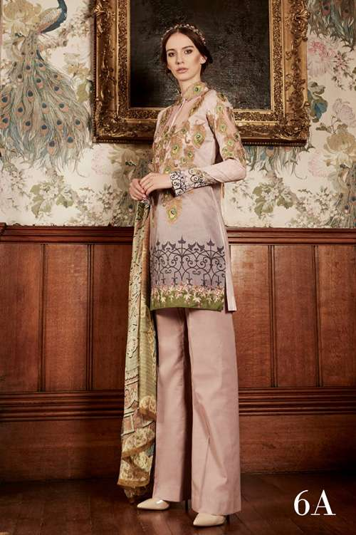 Tabassum Mughal Embroidered Lawn Unstitched 3 Piece Suit TM17L 6A