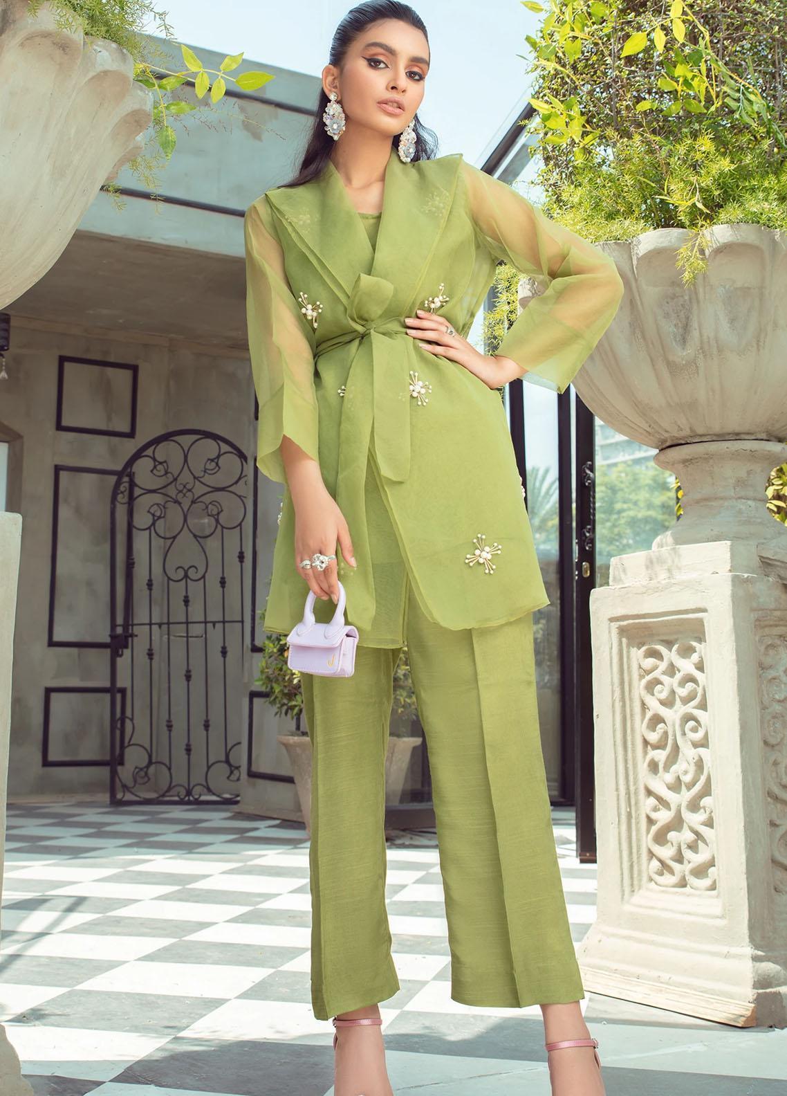 Vanya Party Wear Organza Stitched 2 Piece Dress FJ-08