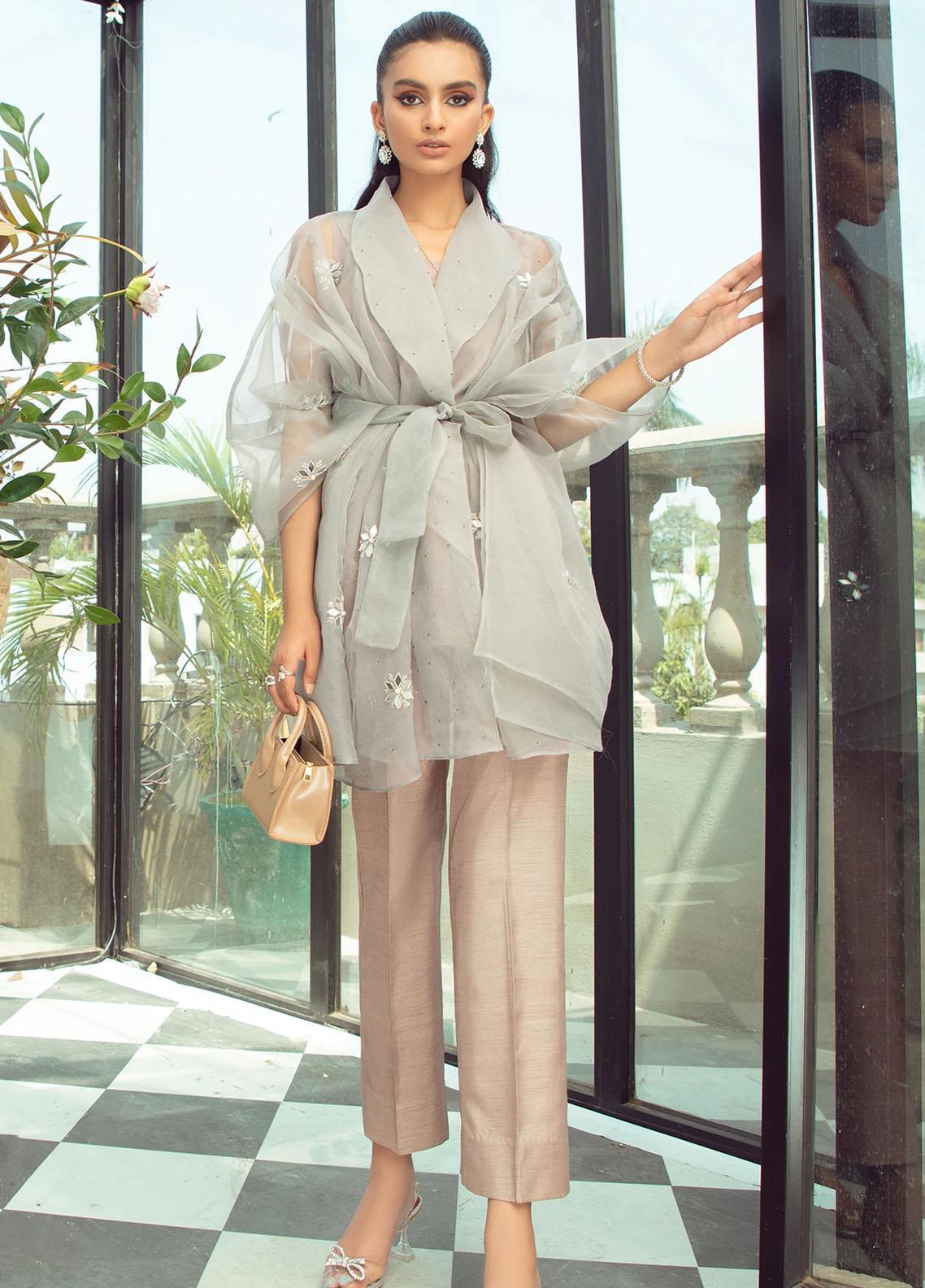 Vanya Party Wear Raw Silk Stitched 2 Piece Dress FJ-11