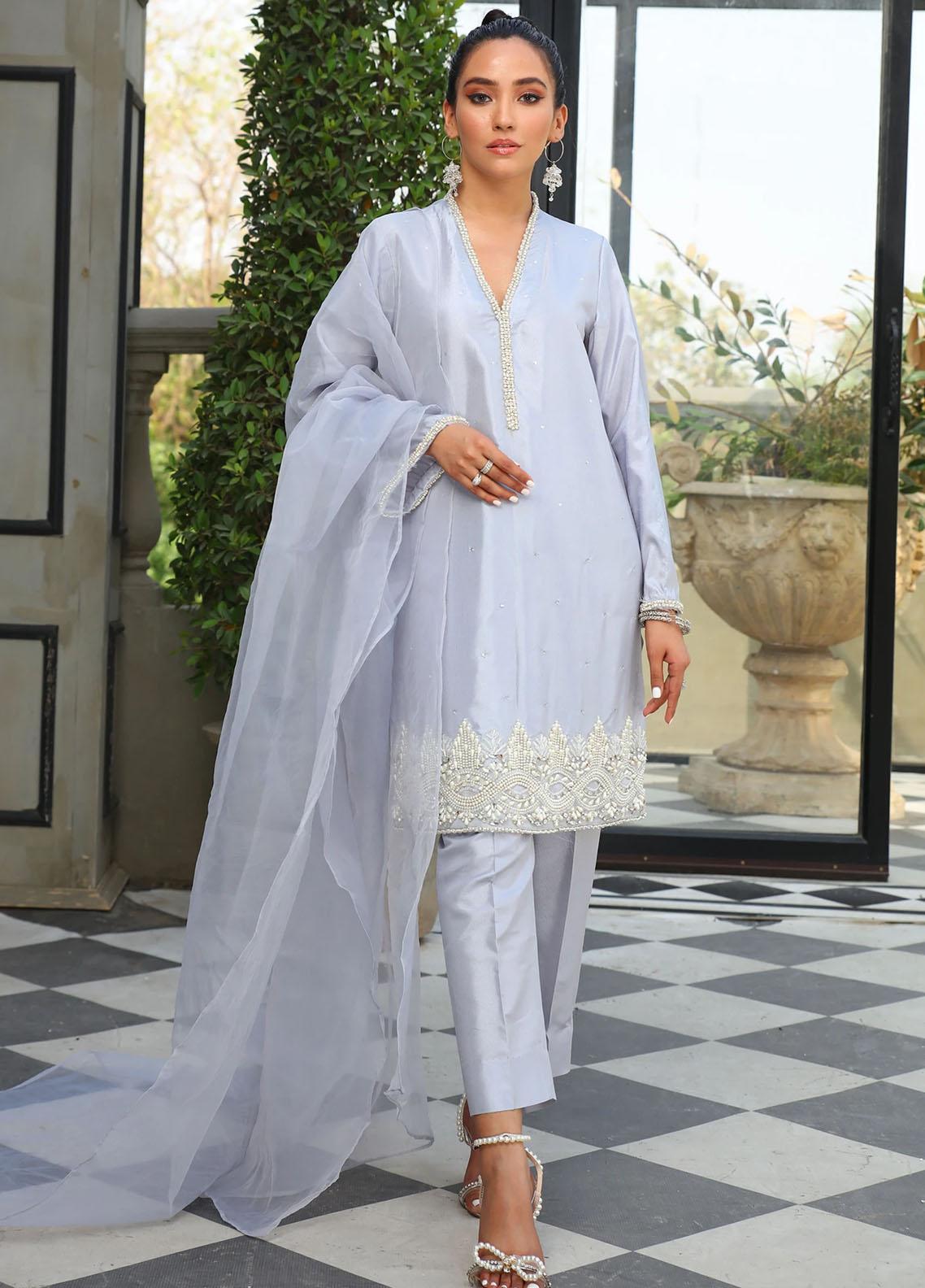 Vanya Embroidered Raw Silk Stitched 3 Piece Suit FJ-12