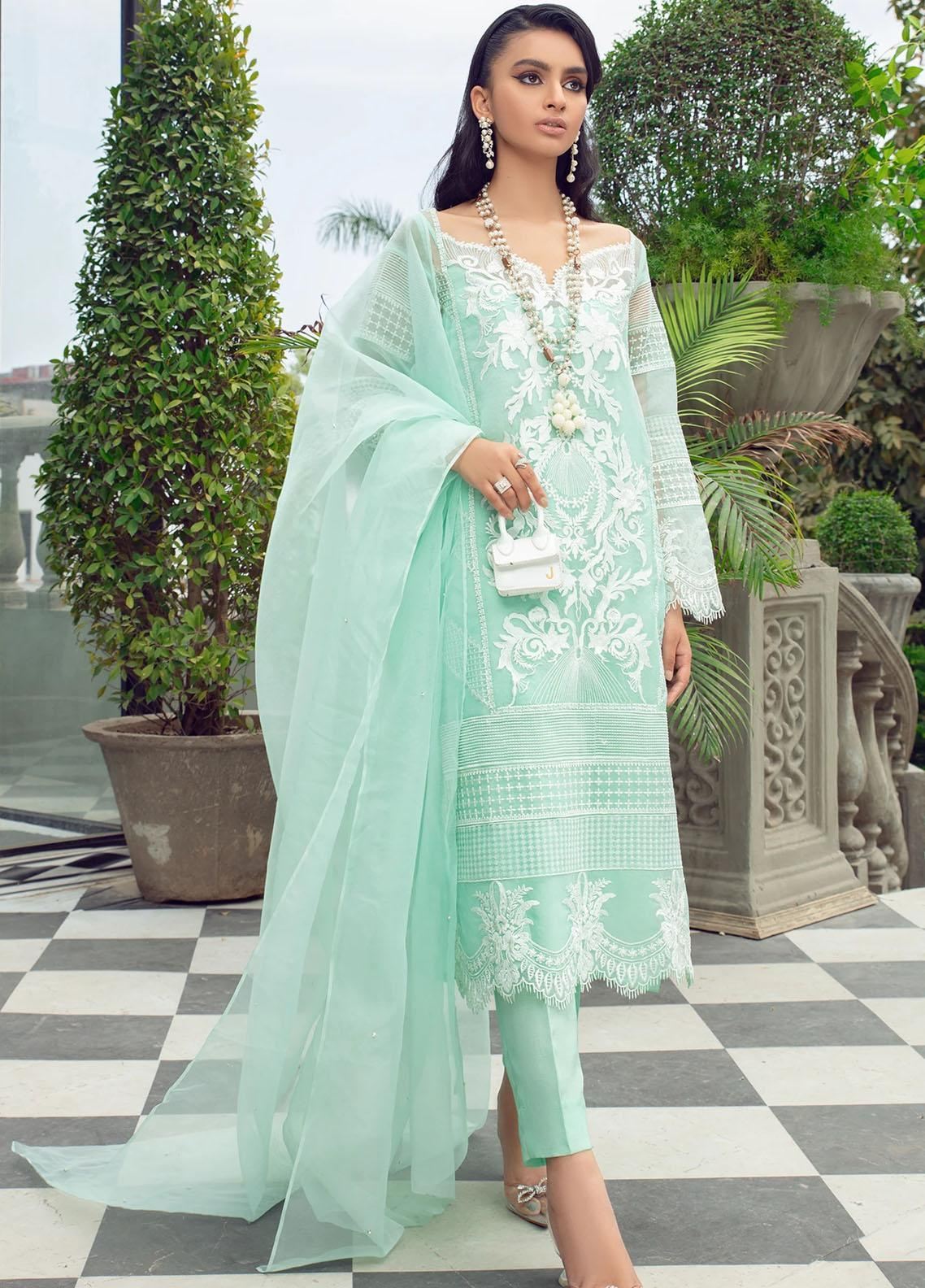 Vanya Embroidered Organza Stitched 3 Piece Suit FJ-14