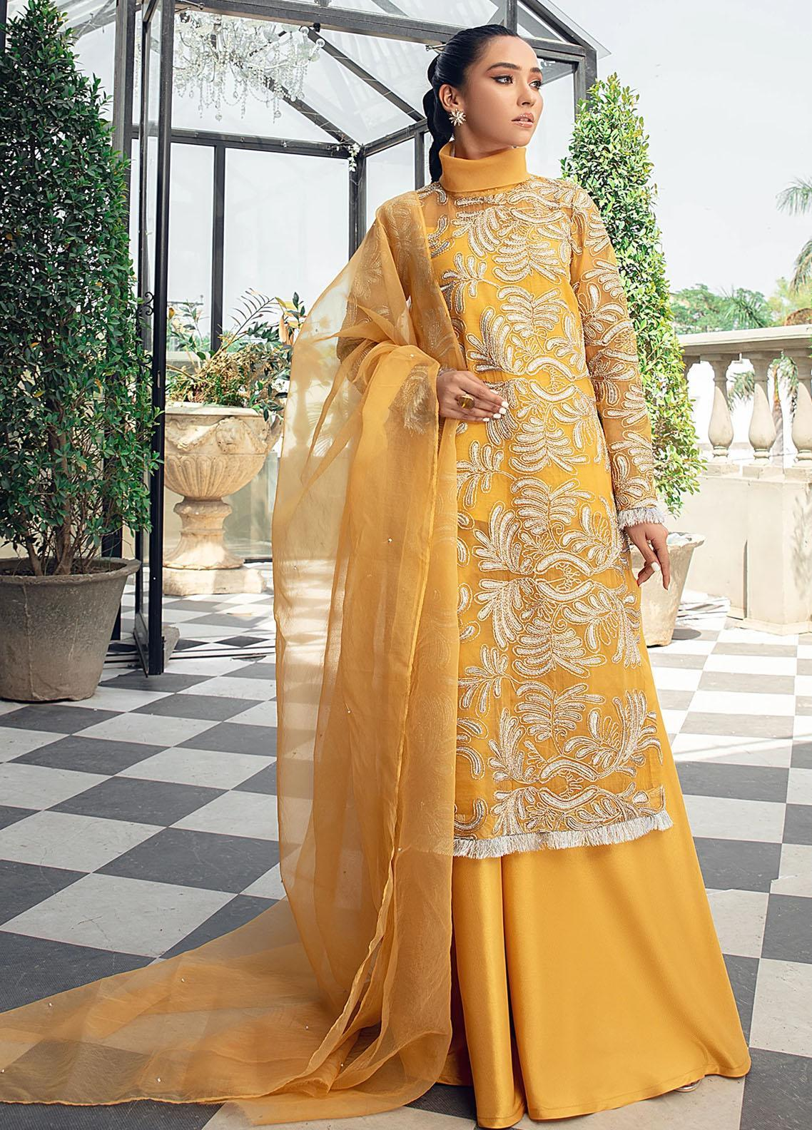 Vanya Embroidered Organza Stitched 3 Piece Suit FJ-15