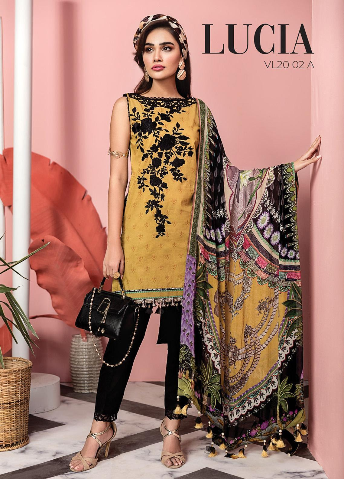 Viva by Anaya Embroidered Lawn Unstitched 3 Piece Suit V20AKC 02 A LUCIA - Summer Collection
