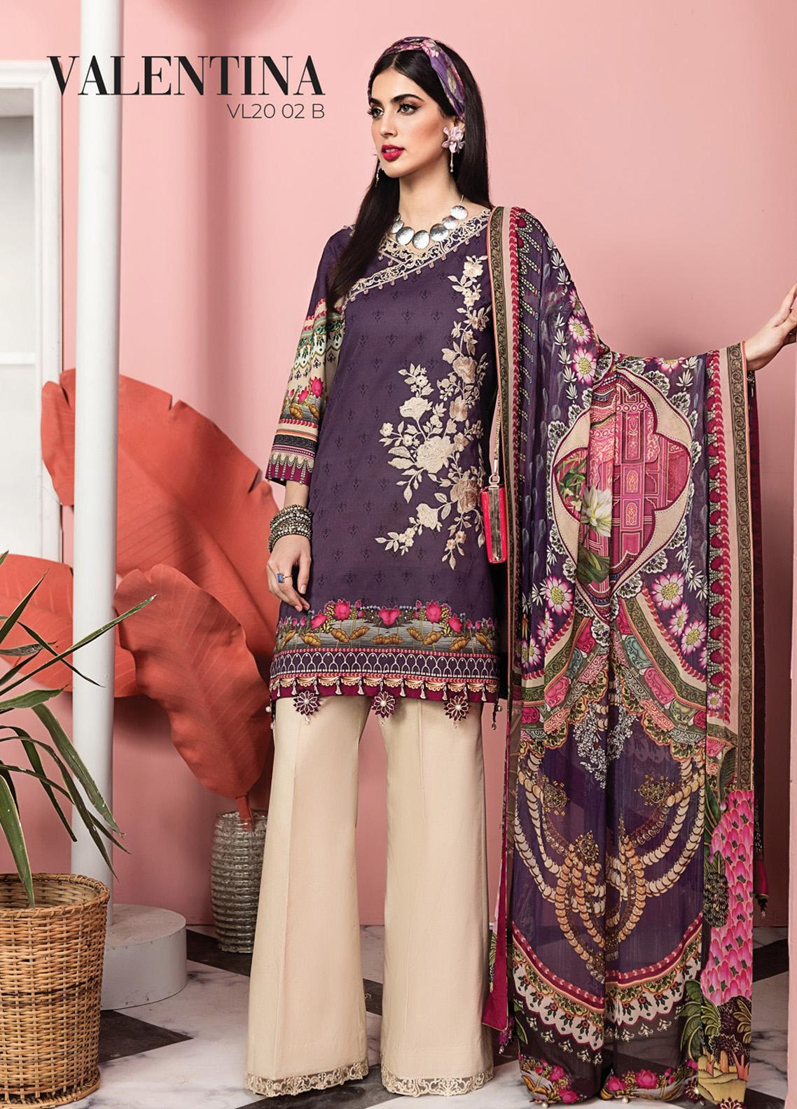 Viva by Anaya Embroidered Lawn Unstitched 3 Piece Suit V20AKC 02 B VALENTINA - Summer Collection