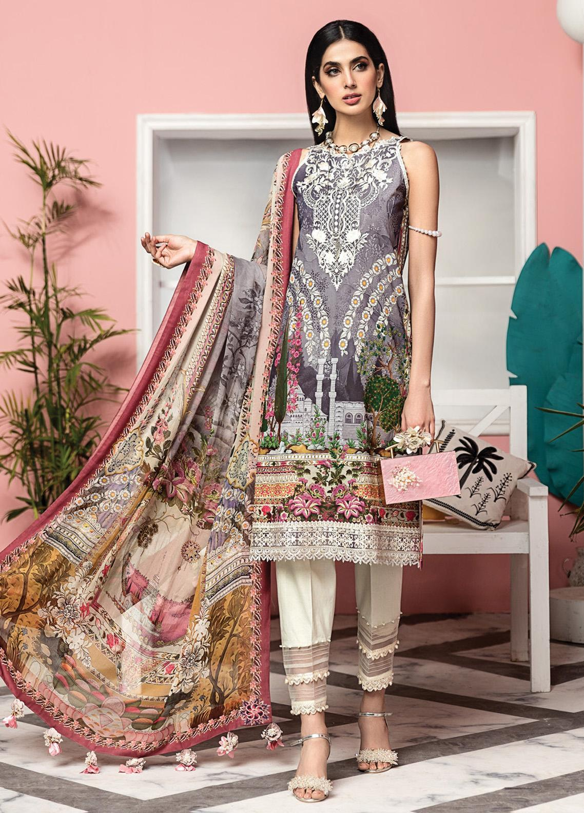 Viva by Anaya Embroidered Lawn Unstitched 3 Piece Suit V20AKC 03 A JULIA - Summer Collection