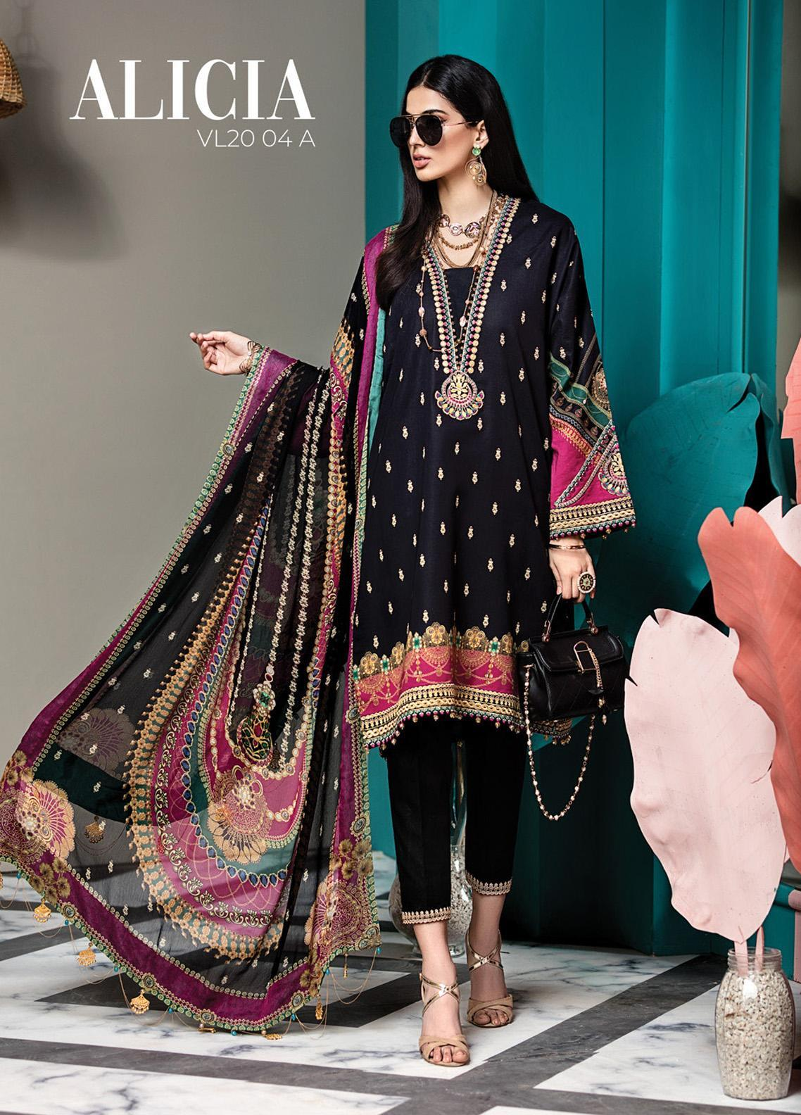 Viva by Anaya Embroidered Lawn Unstitched 3 Piece Suit V20AKC 04 A ALICIA - Summer Collection