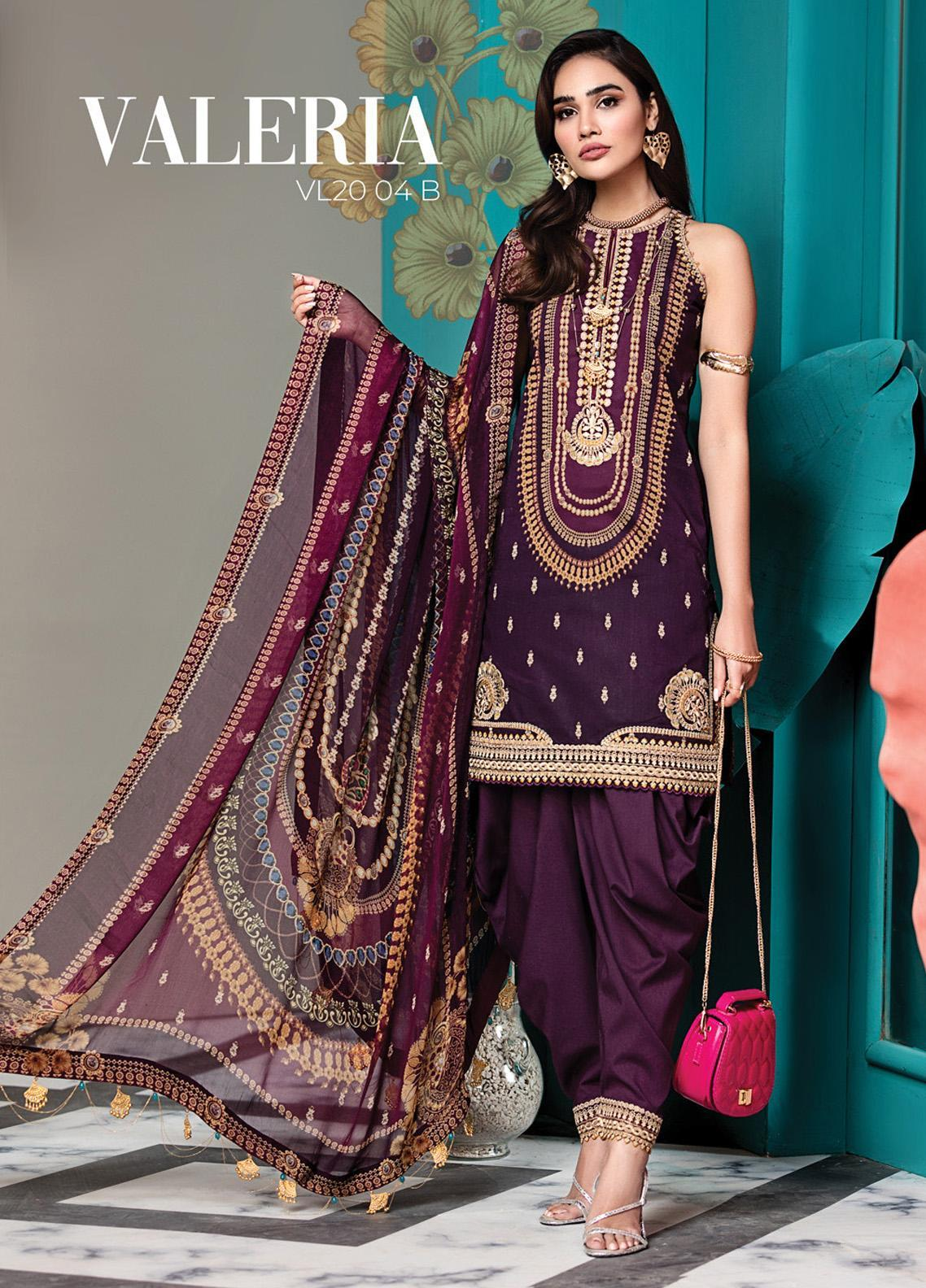 Viva by Anaya Embroidered Lawn Unstitched 3 Piece Suit V20AKC 04 B VALERIA - Summer Collection