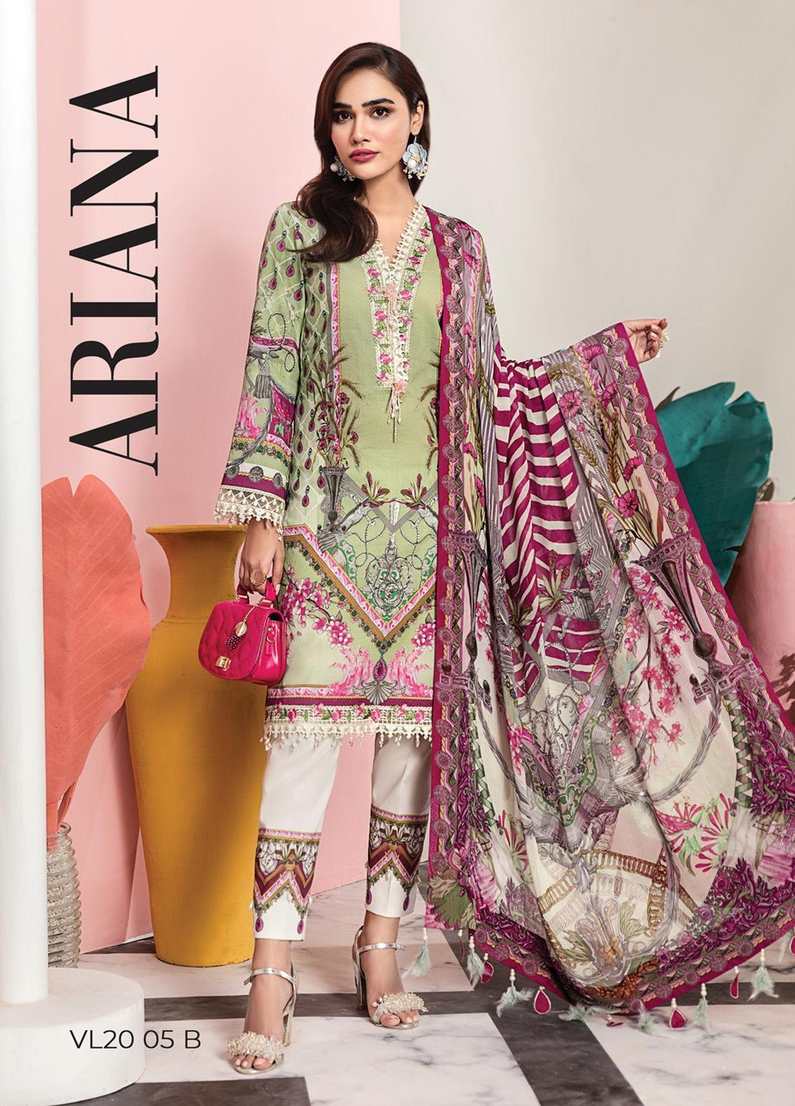 Viva by Anaya Embroidered Lawn Unstitched 3 Piece Suit V20AKC 05 B ARIANA - Summer Collection