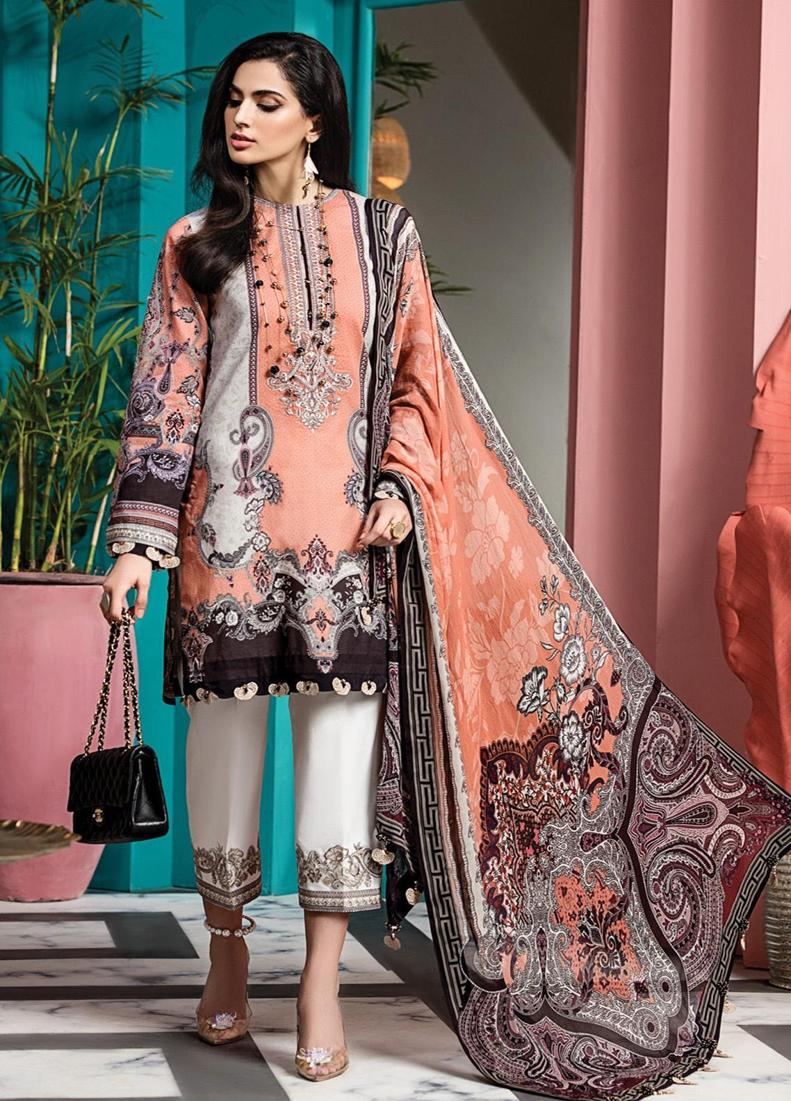 Viva by Anaya Embroidered Lawn Unstitched 3 Piece Suit V20AKC 06 B MIA - Summer Collection