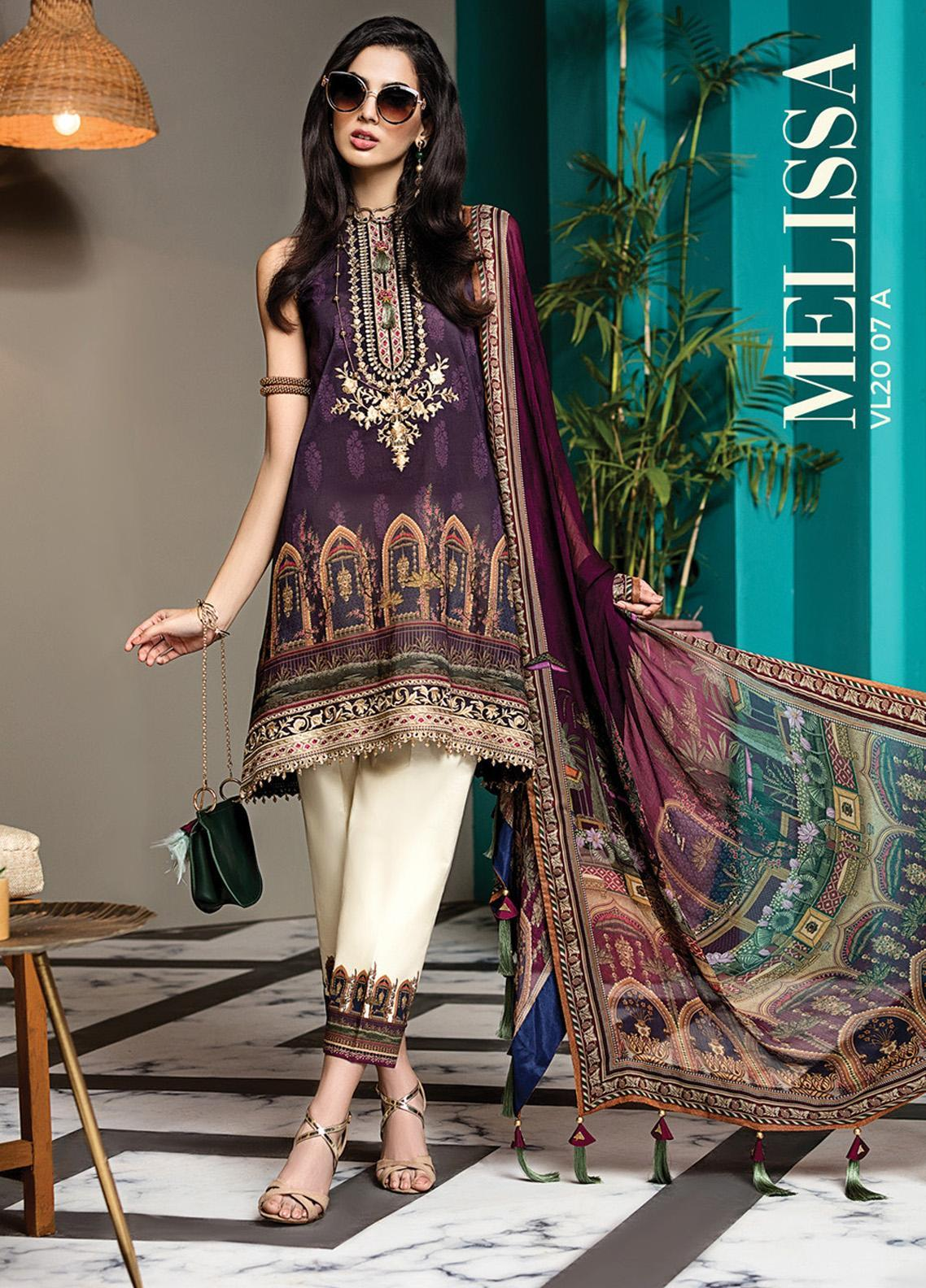 Viva by Anaya Embroidered Lawn Unstitched 3 Piece Suit V20AKC 07 A MELISSA - Summer Collection
