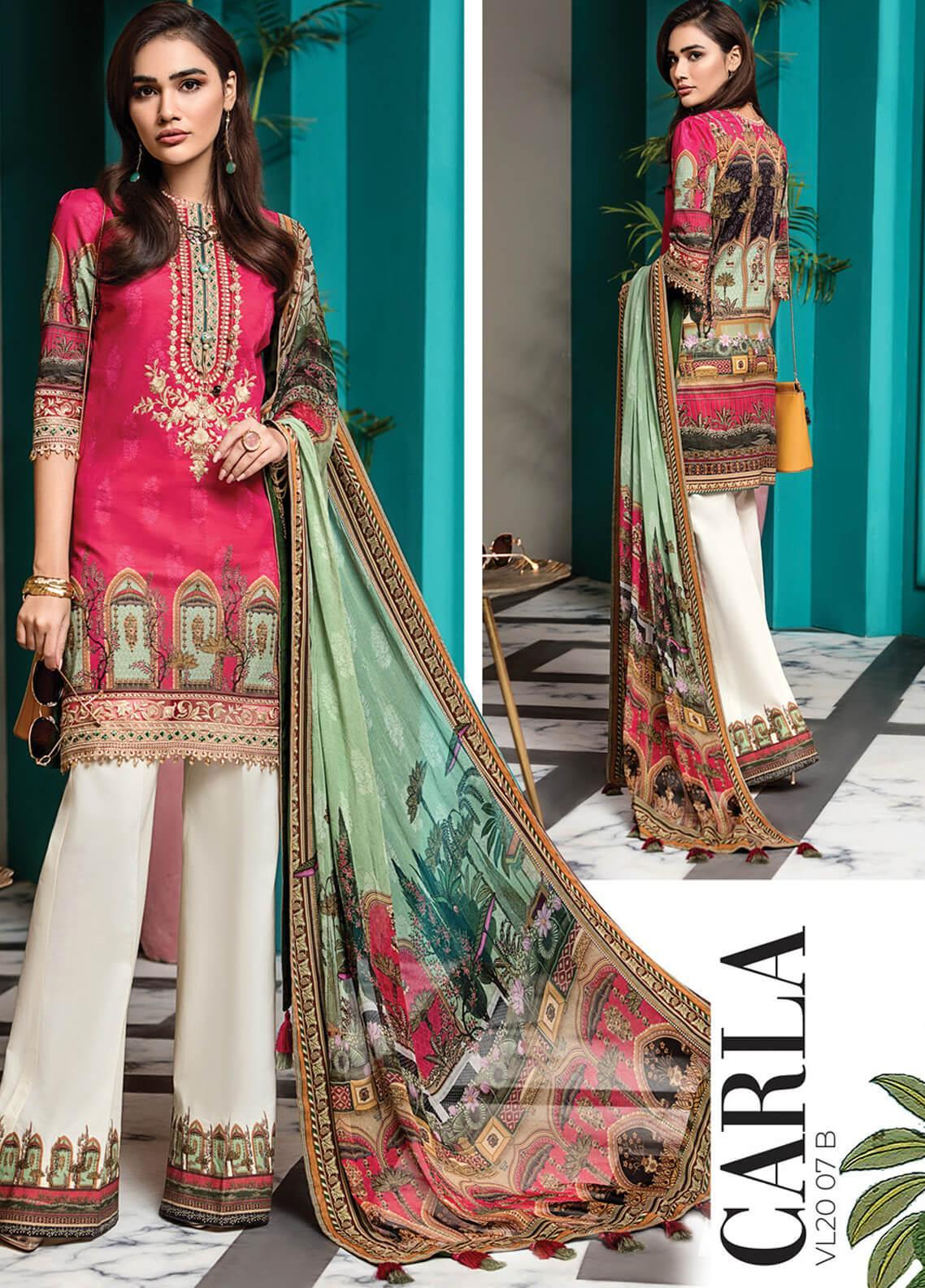 Viva by Anaya Embroidered Lawn Unstitched 3 Piece Suit V20AKC 07 B CARLA - Summer Collection