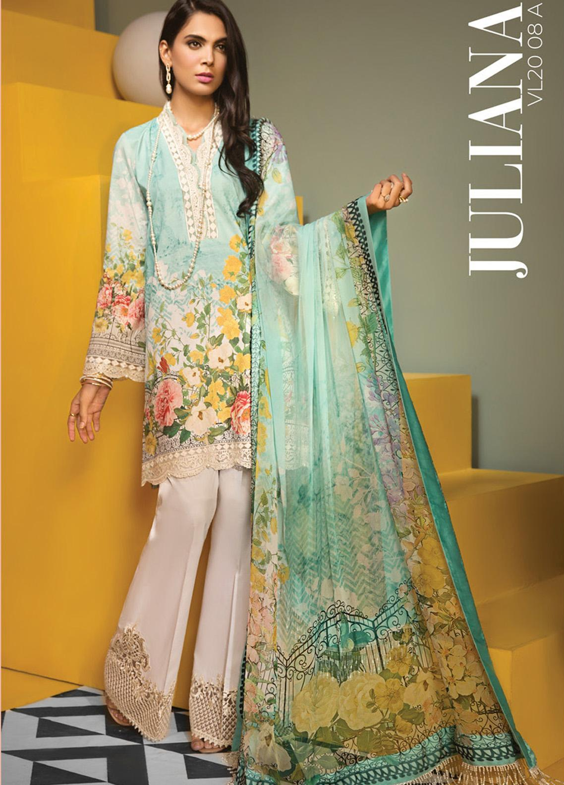 Viva by Anaya Embroidered Lawn Unstitched 3 Piece Suit V20AKC 08 A JULIANA - Summer Collection