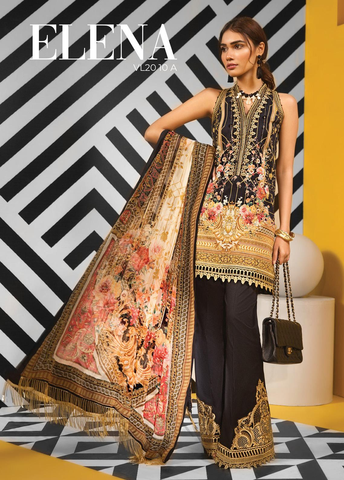 Viva by Anaya Embroidered Lawn Unstitched 3 Piece Suit V20AKC 10 A ELENA - Summer Collection