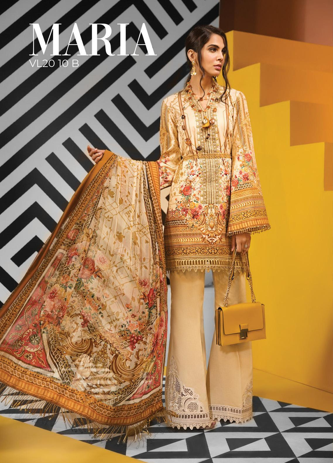 Viva by Anaya Embroidered Lawn Unstitched 3 Piece Suit V20AKC 10 B MARIA - Summer Collection