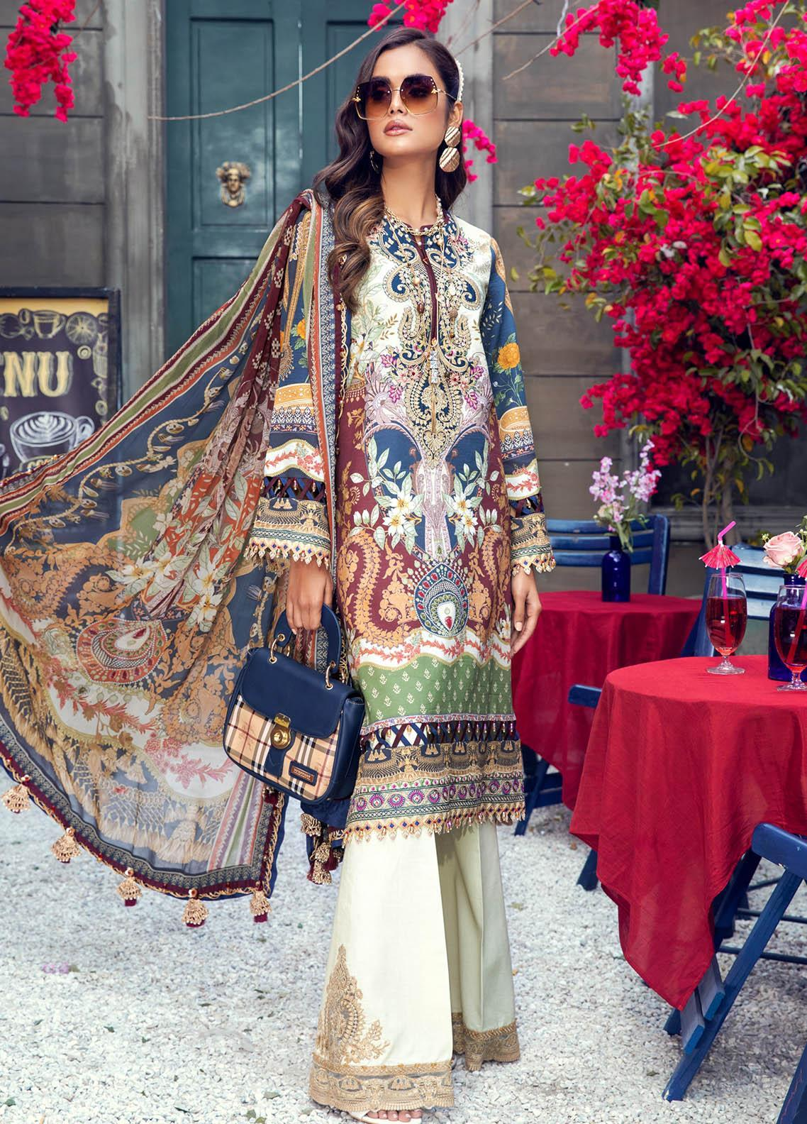 Anaya By Kiran Chaudhry Embroidered Lawn Suits Unstitched 3 Piece AK21VL VL21-05-A CAMILLA - Summer Collection