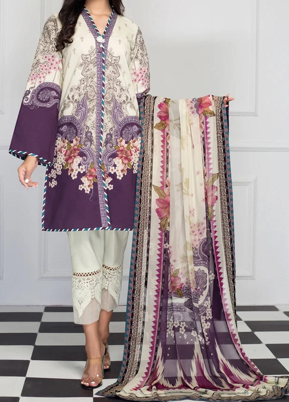 Viva by Anaya Embroidered Cambric Unstitched 2 Piece Suit AKC20IA 07 SAADIA - Winter Collection