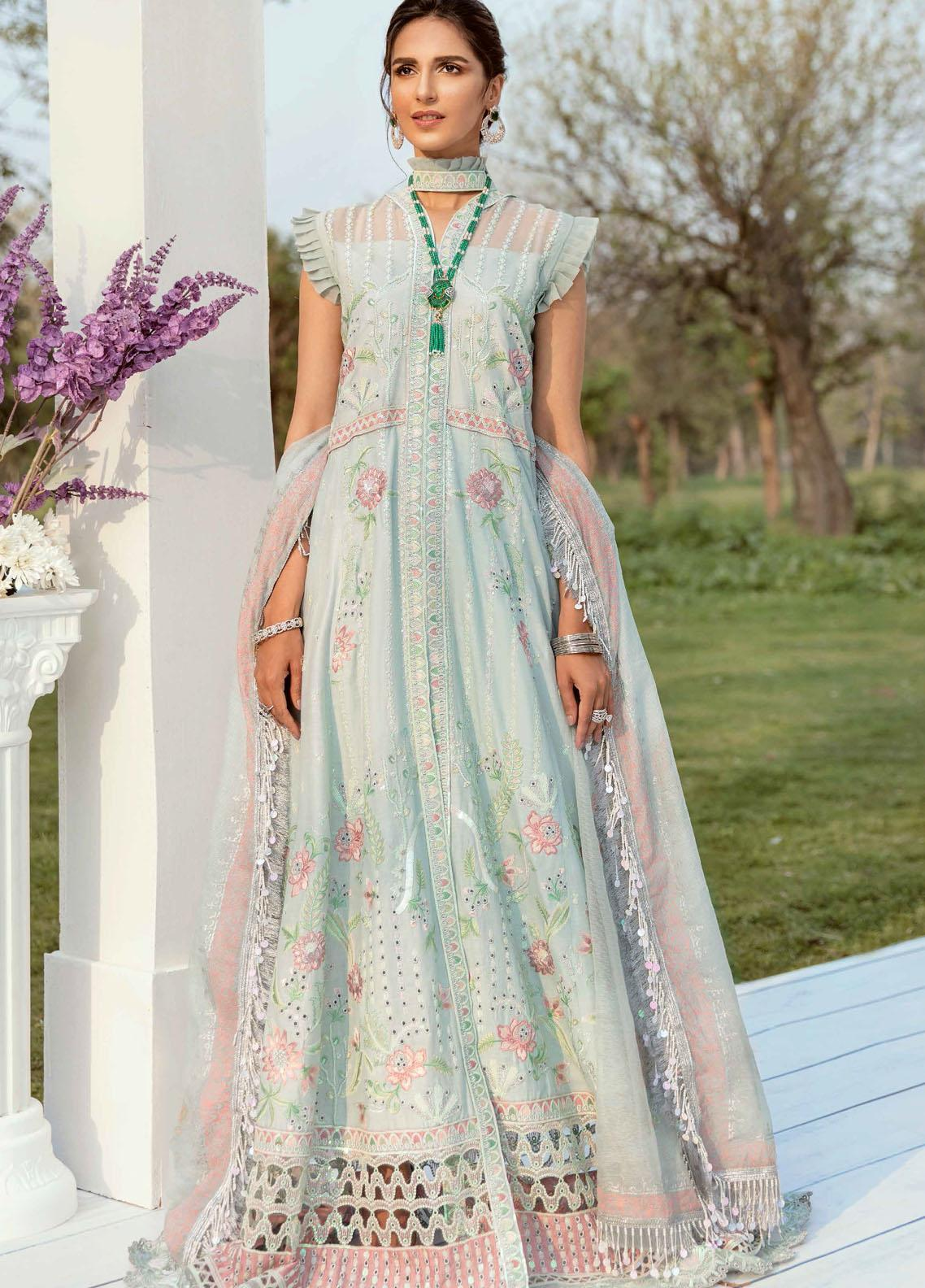 Vogue by Emaan Adeel Embroidered Lawn Suits Unstitched 3 Piece EA21VF 08 DREAMY WONDER - Festive Collection