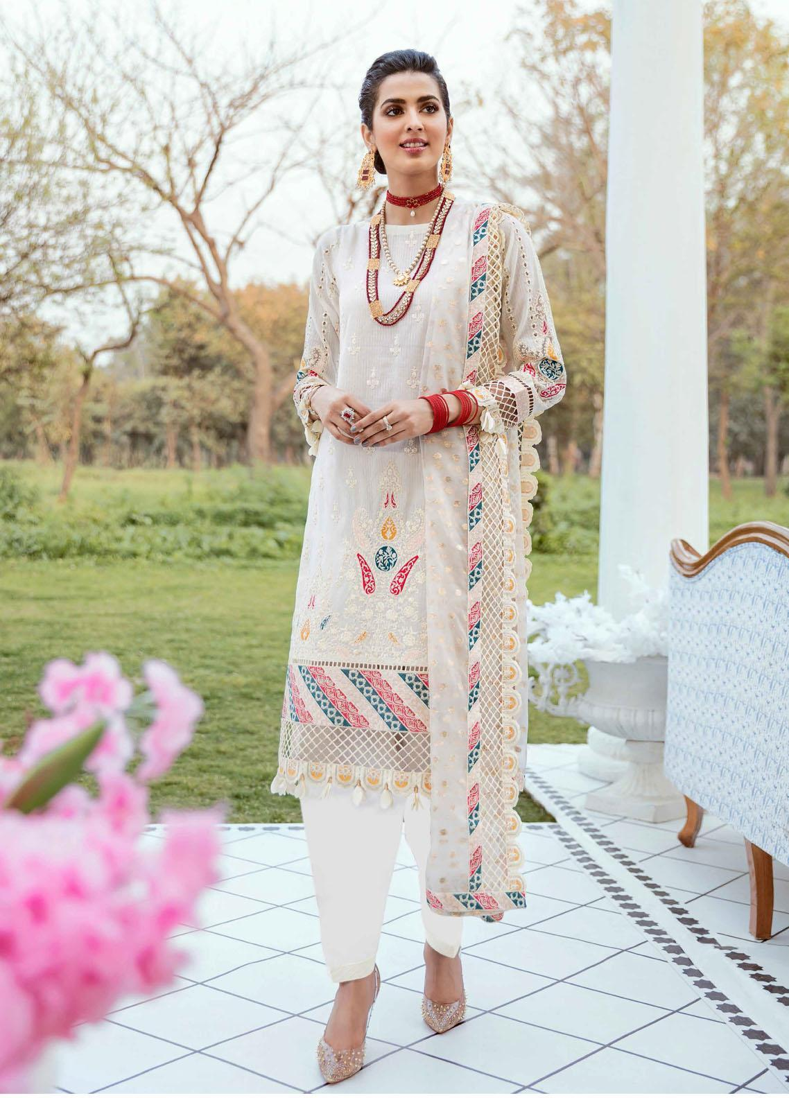 Vogue by Emaan Adeel Embroidered Lawn Suits Unstitched 3 Piece EA21VF 10 ETHEREAL SOPHISTICATION - Festive Collection
