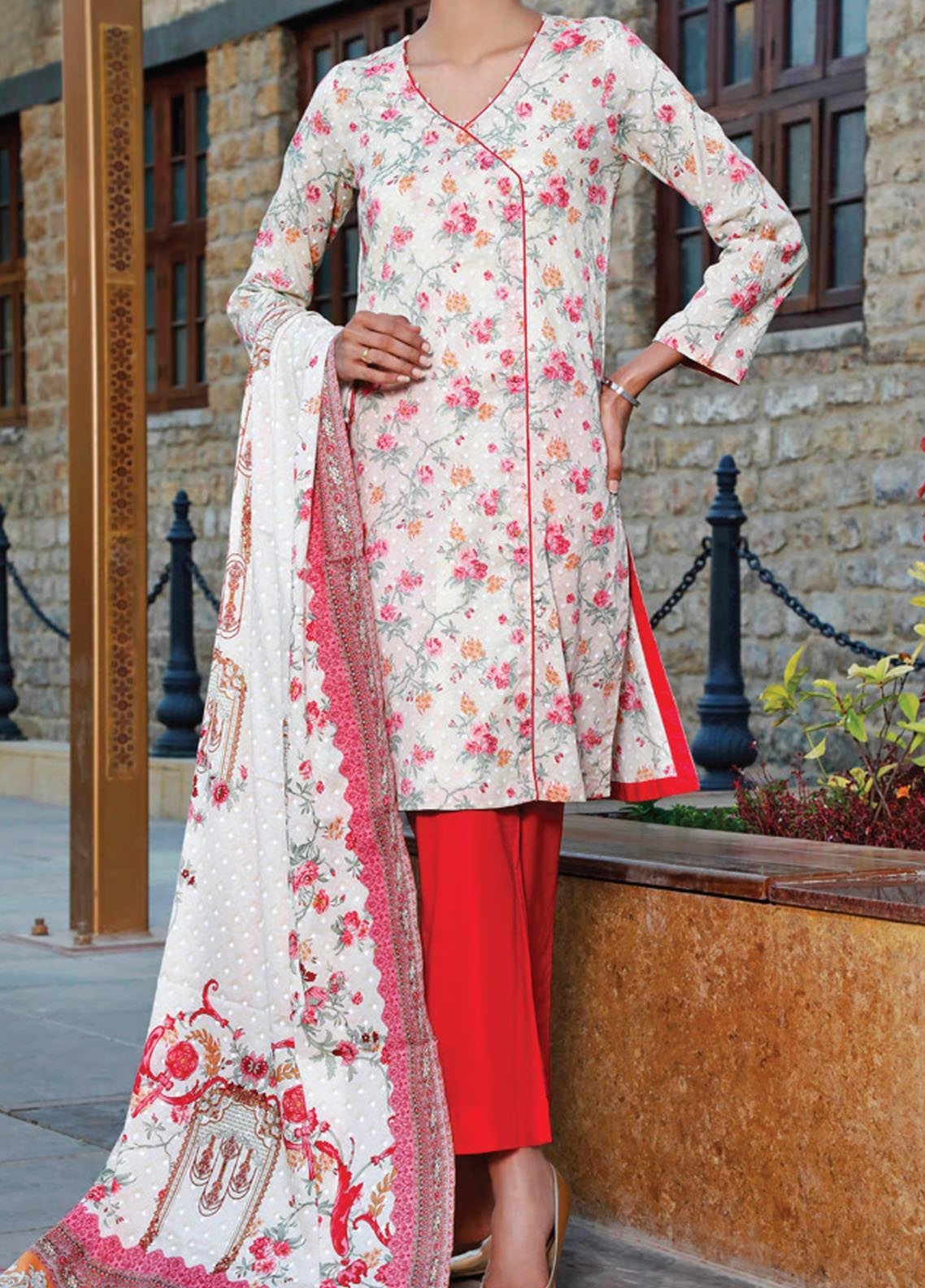 VS Textiles Printed Lawn Suits Unstitched 3 Piece VS21S-2 2617-B - Summer Collection