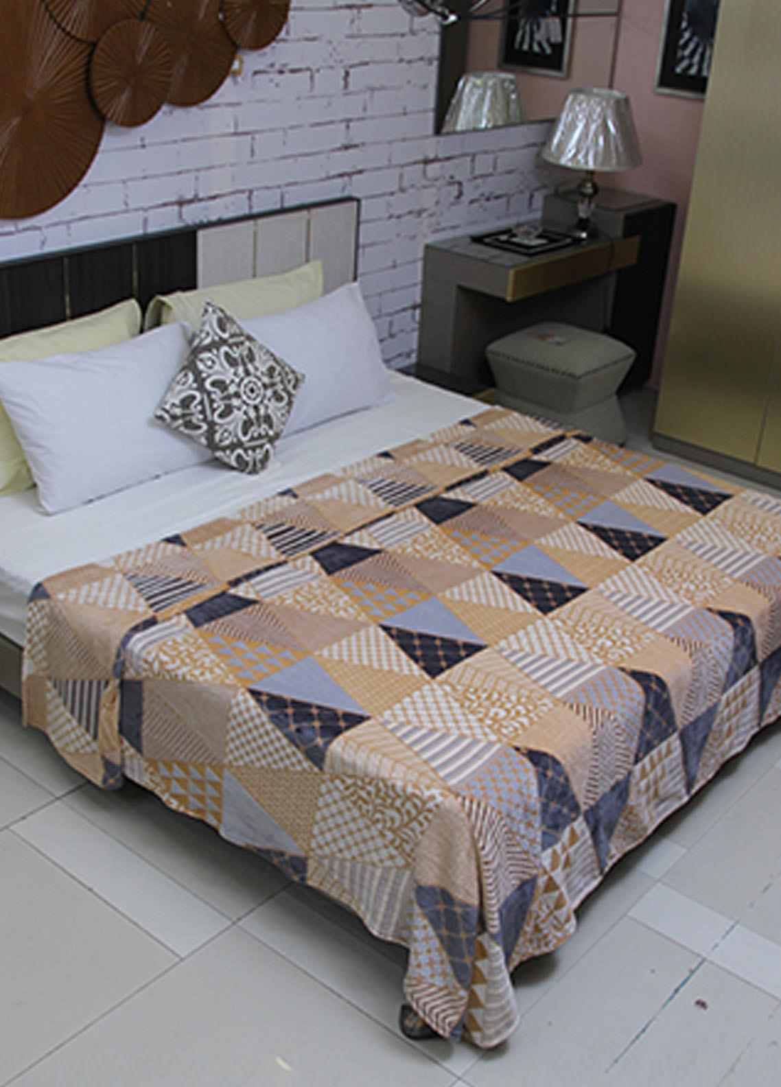 Plush Mink Double Bed Flannel Blankets 2 Ply PM20WF W546 - Home & Decor