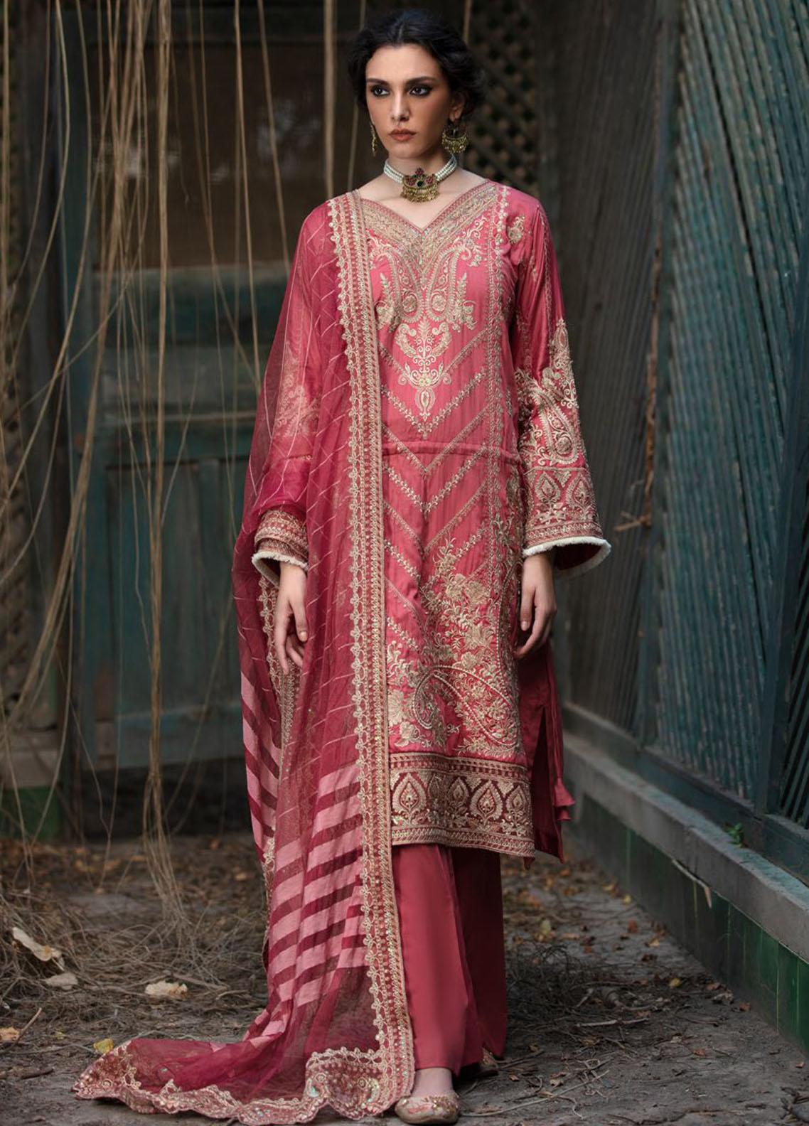 Wasiyat by Motifz Embroidered Cotton Satin Suits Unstitched 3 Piece MT21W MWUA-3024 ZAHRI-B - Winter Collection
