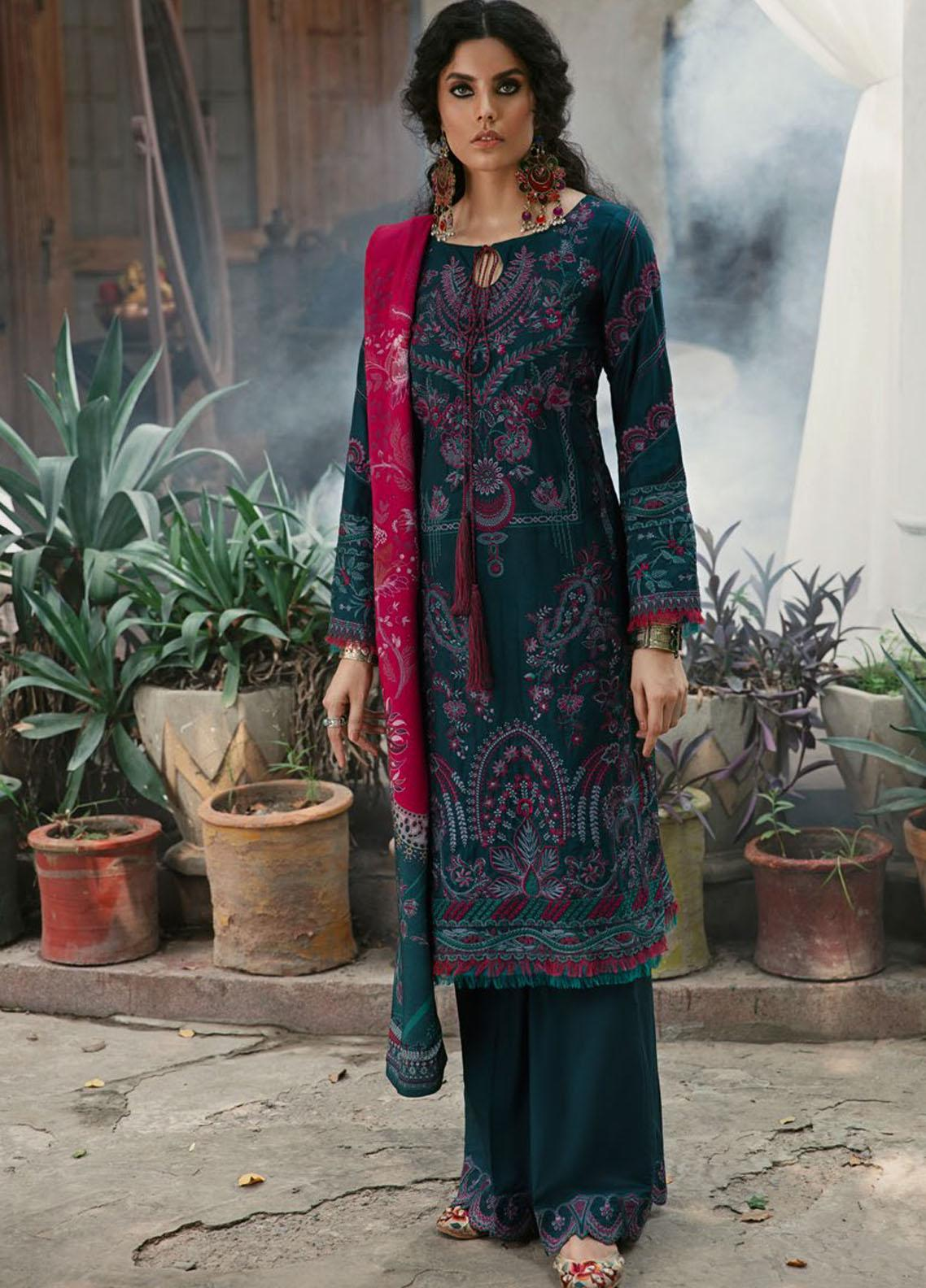 Wasiyat by Motifz Embroidered Cotton Satin Suits Unstitched 3 Piece MT21W MWUA-3025 MAHGOL-A - Winter Collection