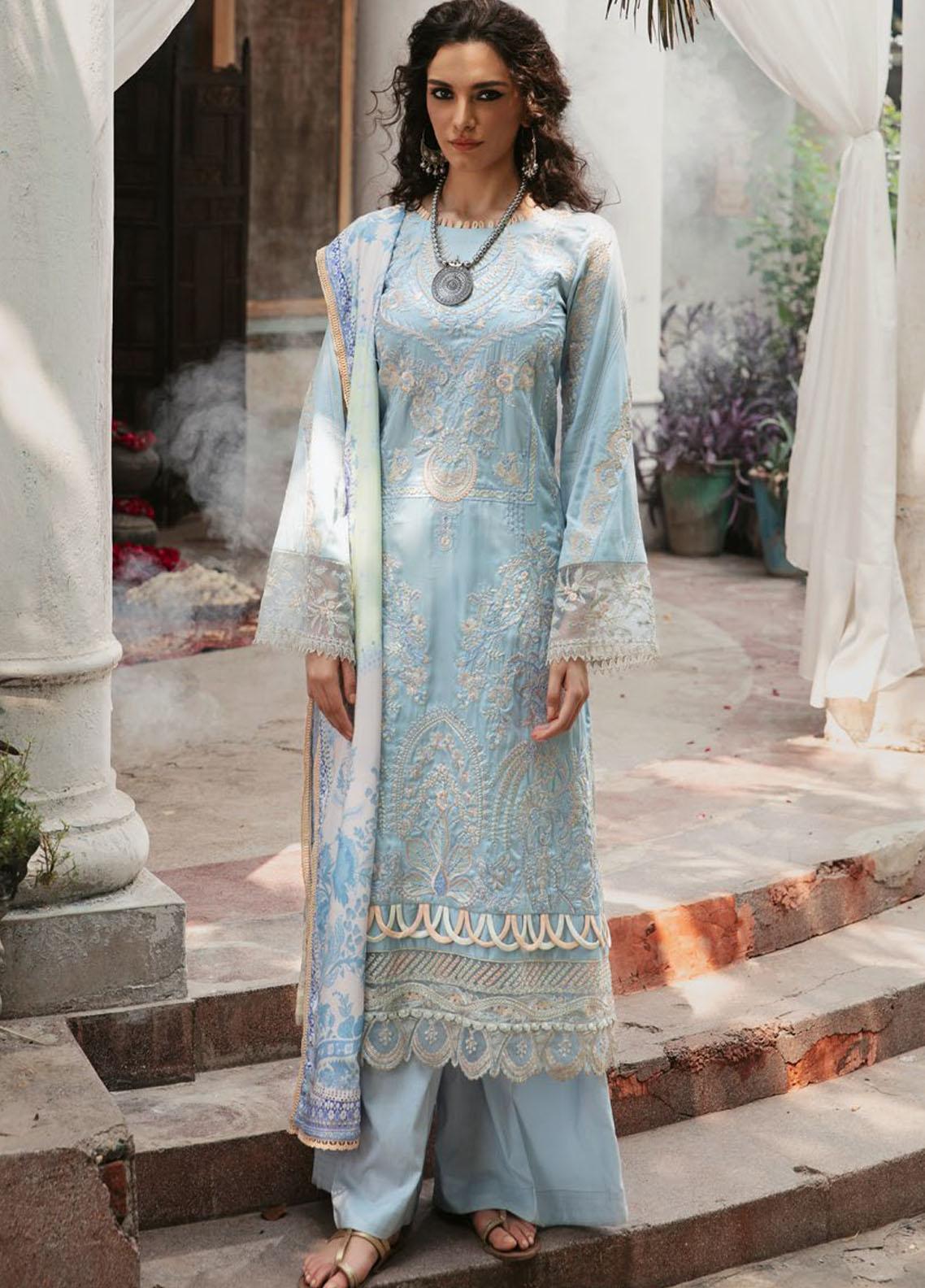 Wasiyat by Motifz Embroidered Cotton Satin Suits Unstitched 3 Piece MT21W MWUA-3025 MAHGOL-B - Winter Collection