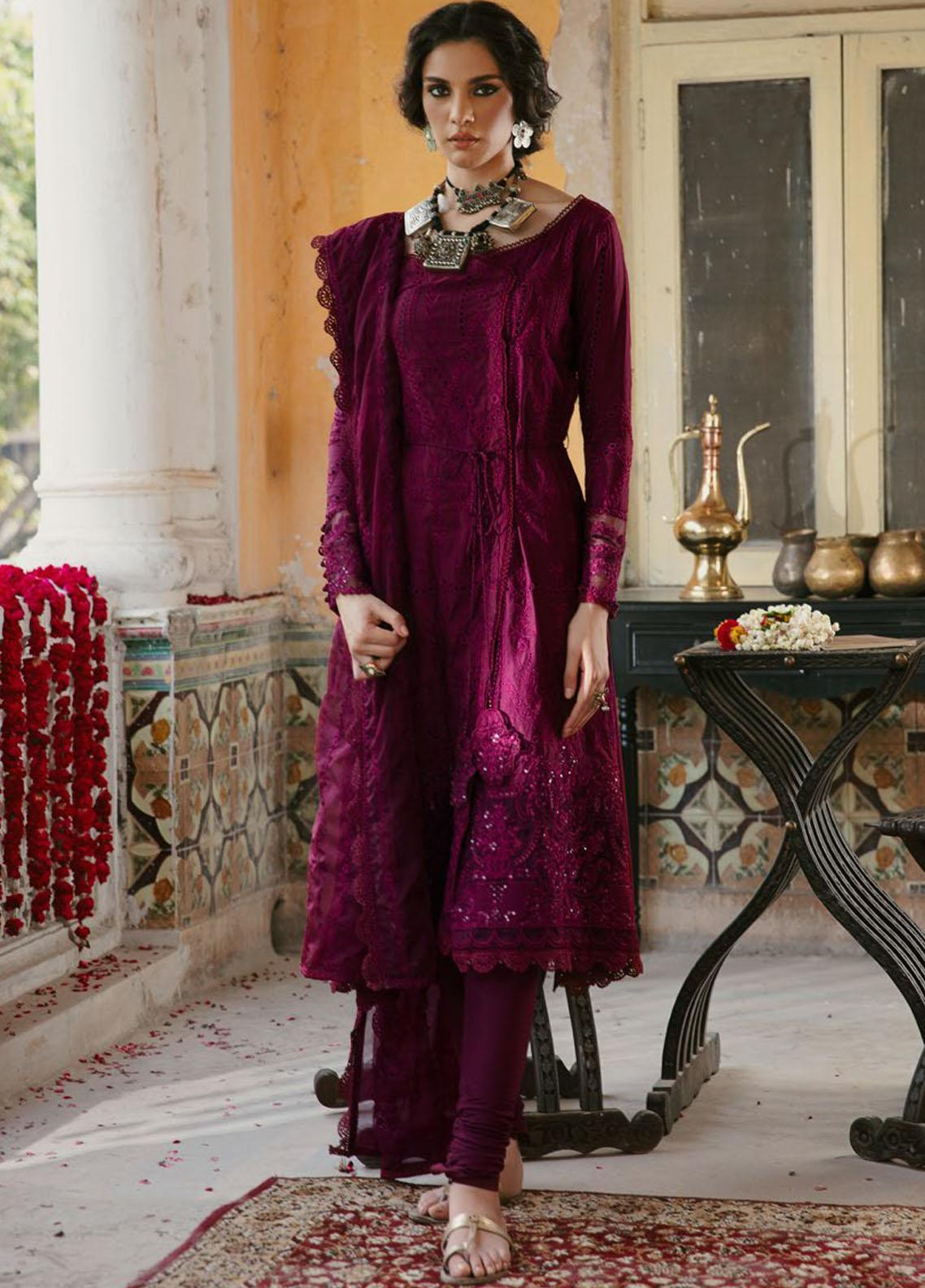Wasiyat by Motifz Embroidered Cotton Satin Suits Unstitched 3 Piece MT21W MWUA-3027 MAHROZ-A - Winter Collection