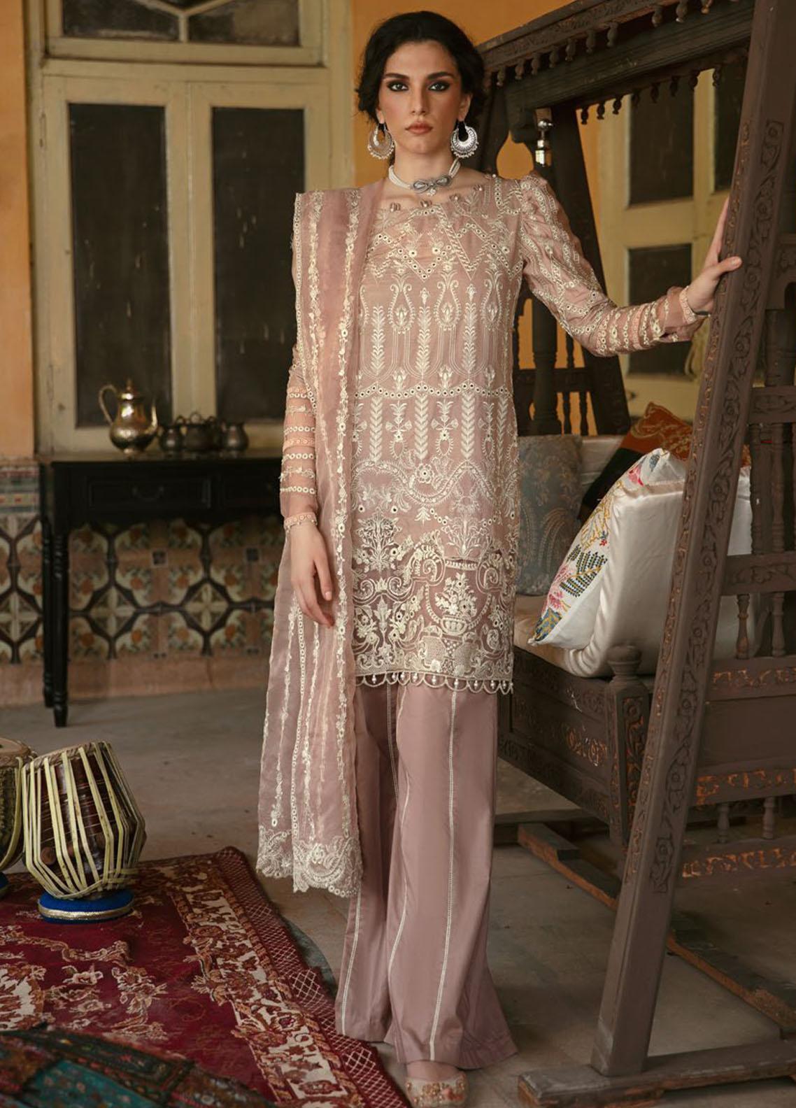 Wasiyat by Motifz Embroidered Cotton Satin Suits Unstitched 3 Piece MT21W MWUA-3027 MAHROZ-B - Winter Collection