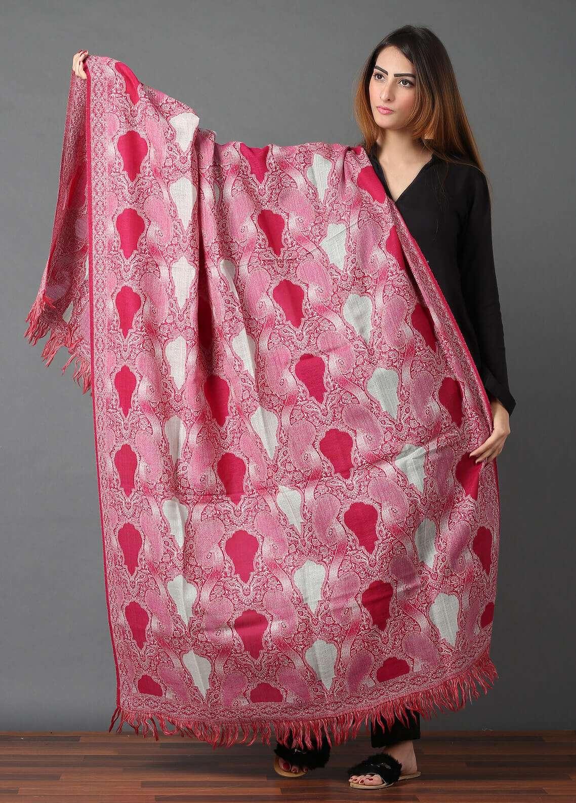 Sanaulla Exclusive Range  Jamawar Weaved Shawl 589 - Winter Collection