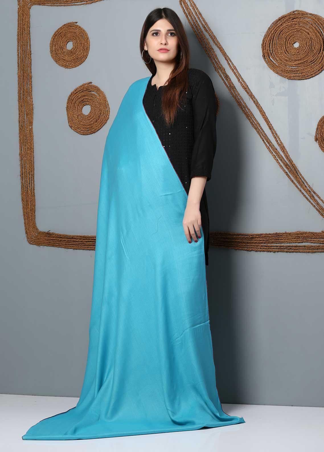 Sanaulla Exclusive Range Plain Woolen  Shawl SU21SH 334161 - Woolen Shawls