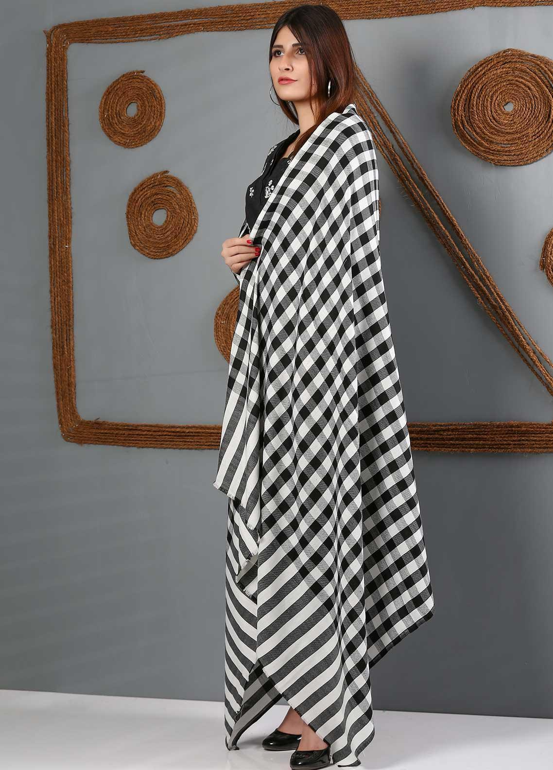 Sanaulla Exclusive Range Printed Woolen  Shawl SU21WS 334165 - Woolen Shawls