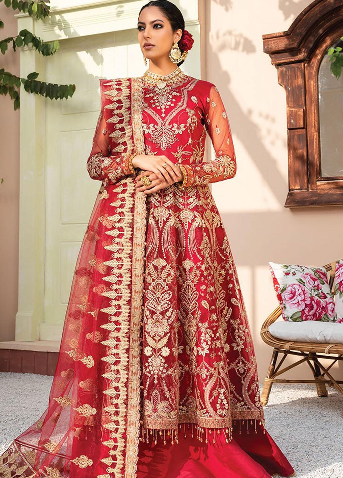 Dareechay by Xenia Formals Embroidered Net Unstitched 3 Piece Suit XE21D 10 Shabkhosb - Luxury Collection