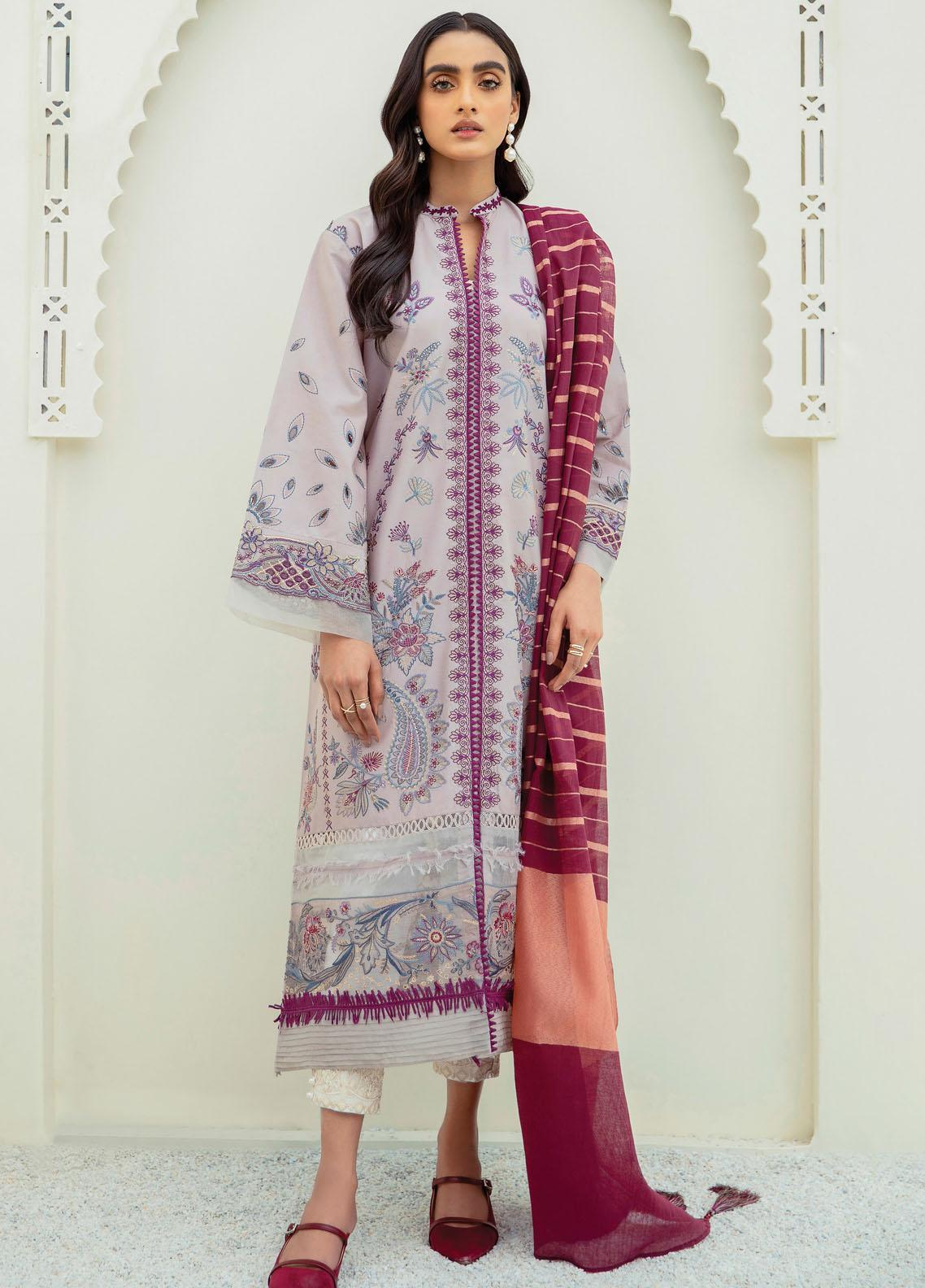 Xenia Formals Embroidered Lawn Suits Unstitched 3 Piece XE21M D-10 ARASH - Summer Collection