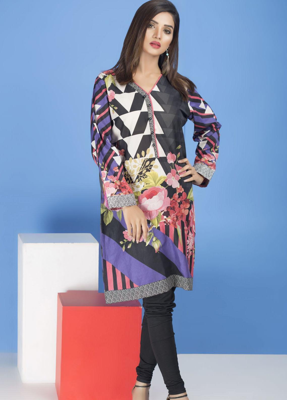 Yusra Ansari Embroidered Lawn Stitched Kurti YA20EF YA-07 Nancy Rose
