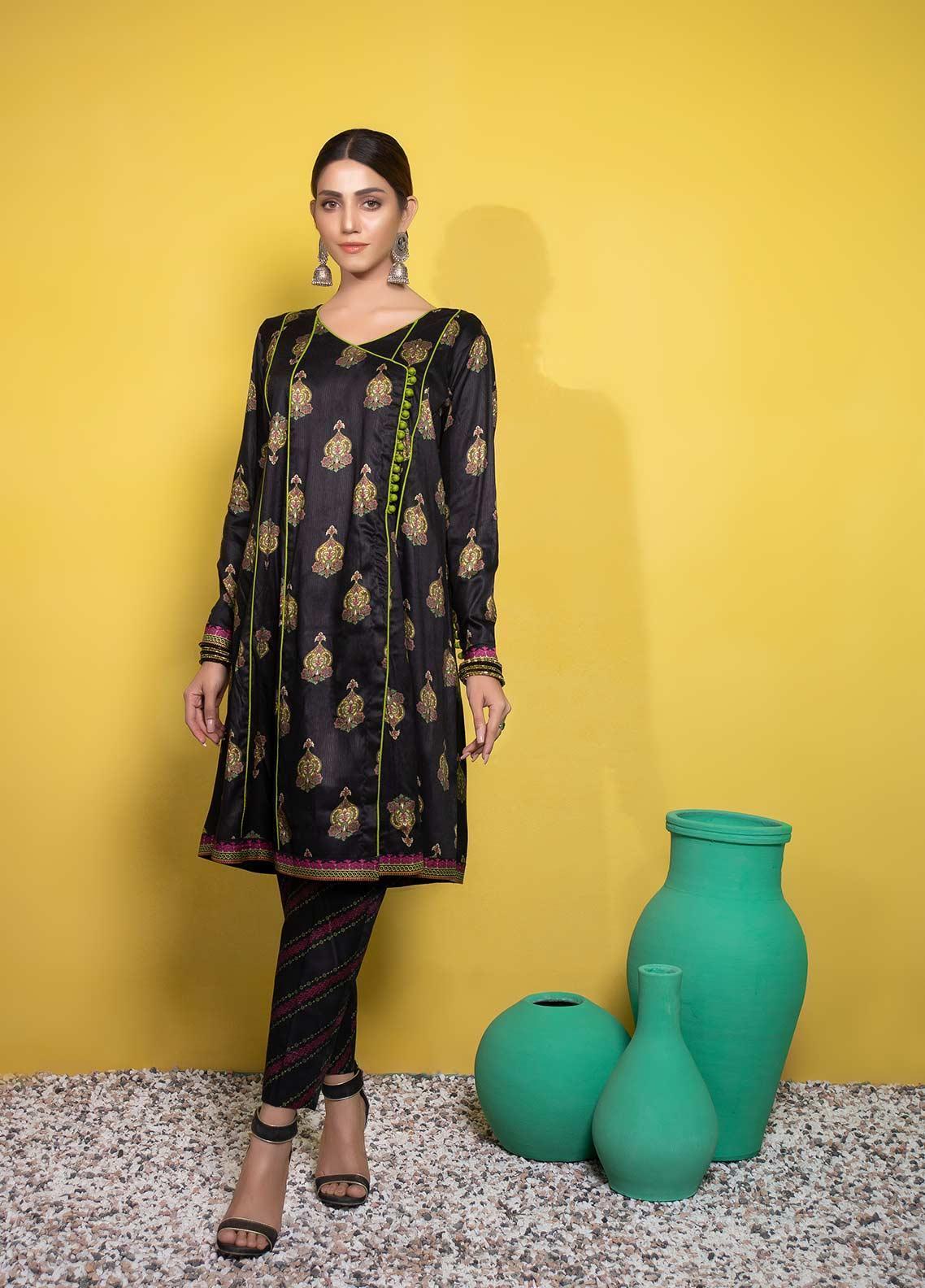 Yusra Ansari Printed Linen Stitched 2 Piece Suit YA20WS Amirah-Ywi-04